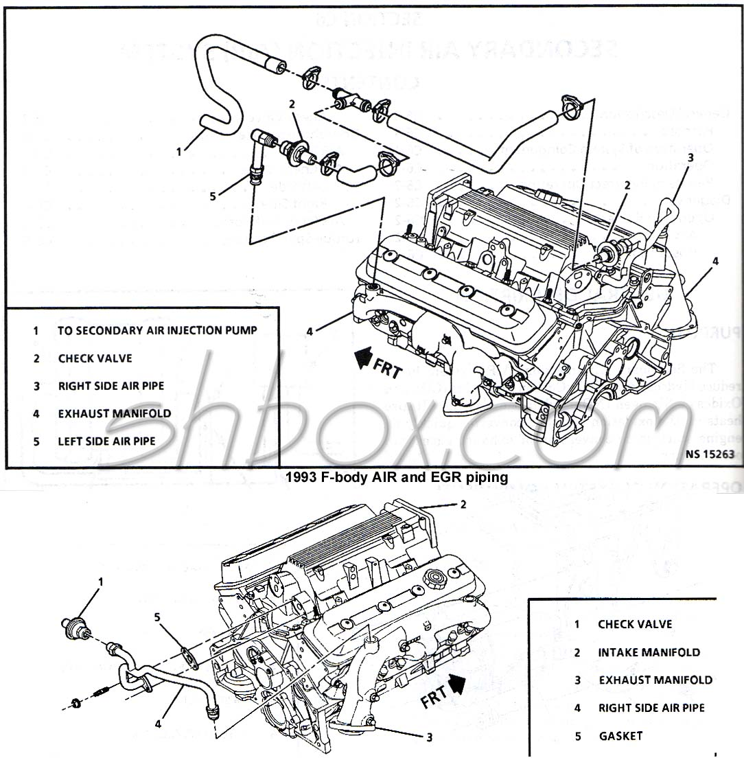hight resolution of 1993 air and egr piping