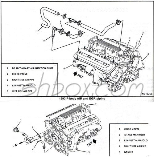 small resolution of 1993 air and egr piping