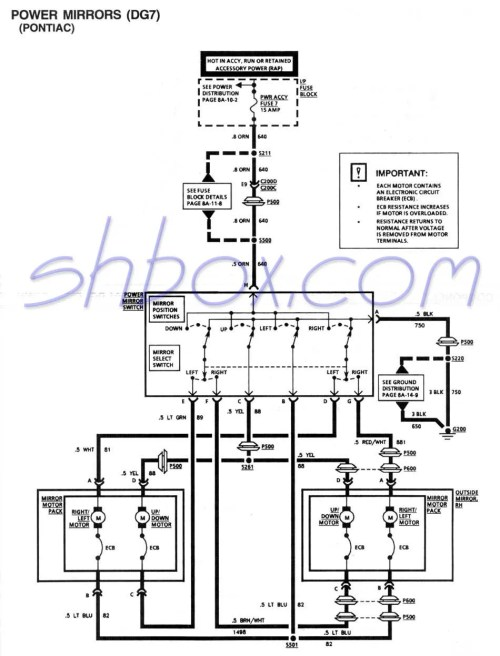 small resolution of power mirror schematic 1995 firebird