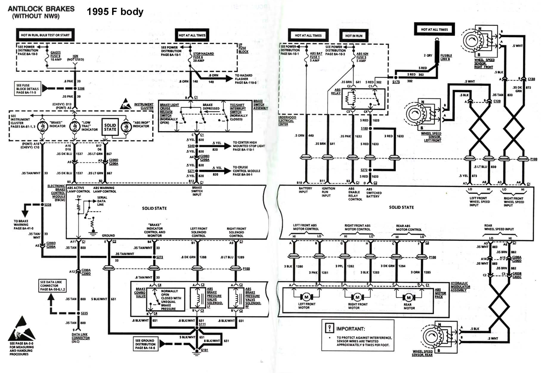 hight resolution of 4th gen lt1 f body tech aids 1970 chevelle lights wiring diagram 1998 camaro tail light