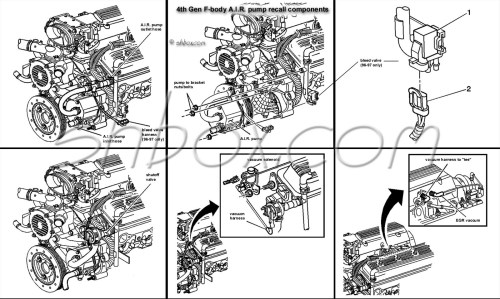 small resolution of 4th gen lt1 f body tech aids drawings exploded views lt1 fuel injection wiring harness 1995 lt1 wiring harness labeled