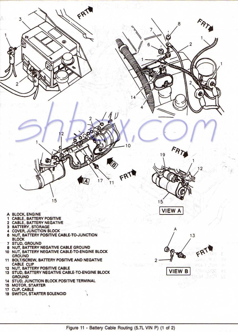 medium resolution of starter and charging schematic 1996 battery cable routing view 1