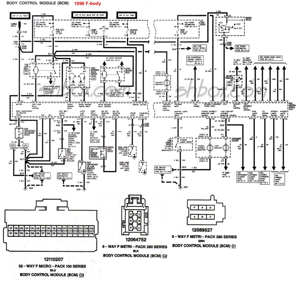 medium resolution of 4th gen lt1 f body tech aids 69 camaro wiring diagram 1996 camaro wiring diagram