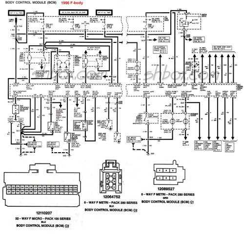 small resolution of 4th gen lt1 f body tech aids 69 camaro wiring diagram 1996 camaro wiring diagram