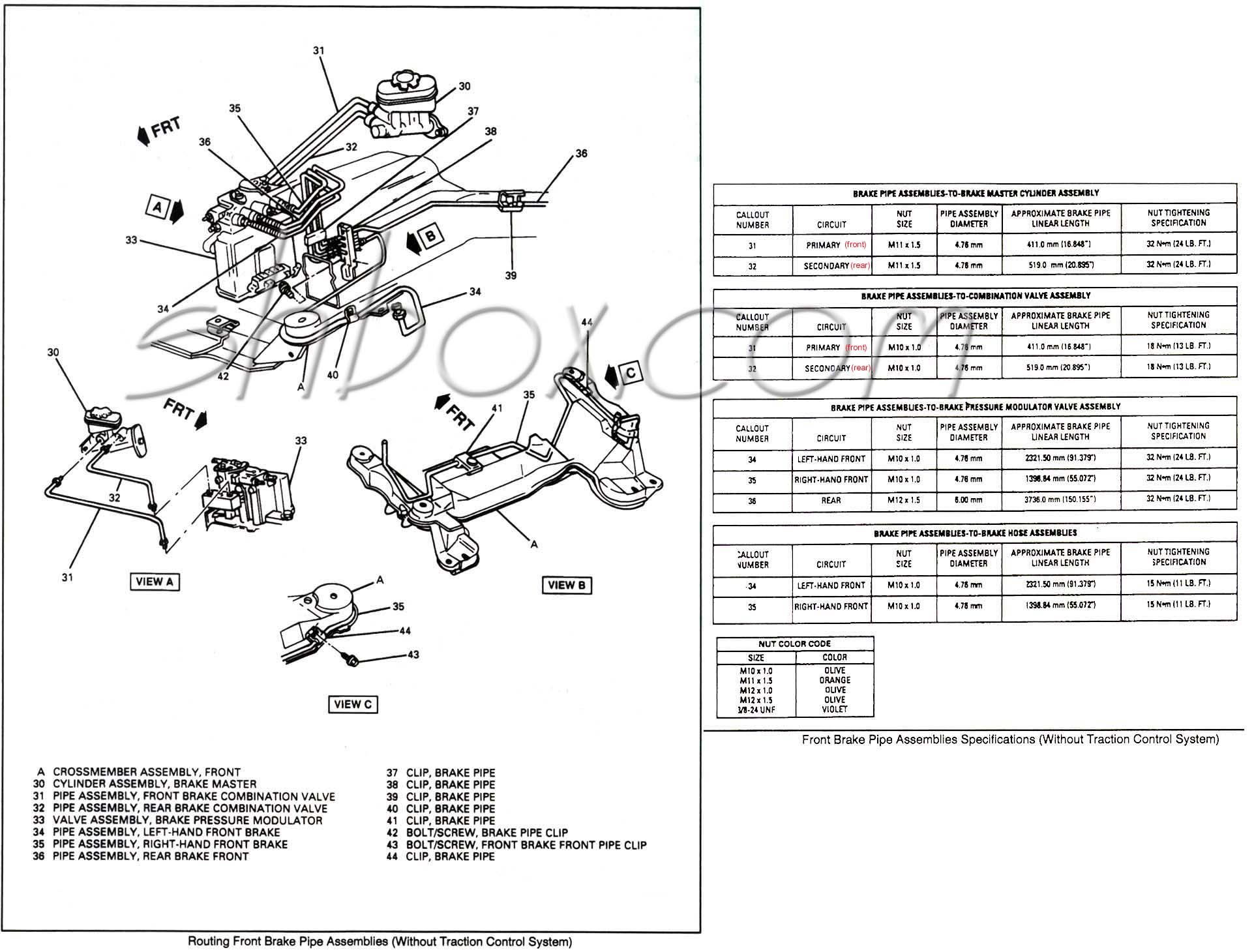 4th Gen Lt1 F Body Tech Aids Drawings Amp Exploded Views