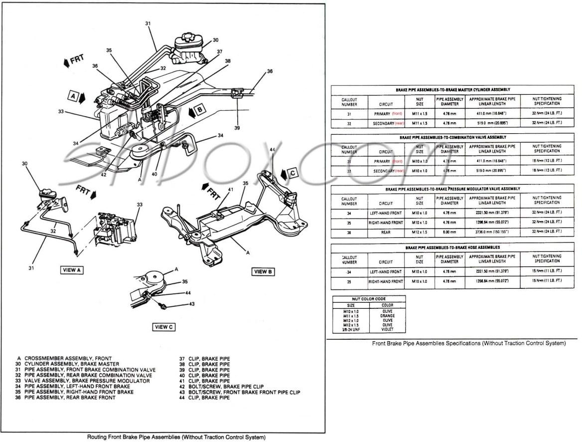 1998 Jeep Grand Cherokee Brake Line Diagram