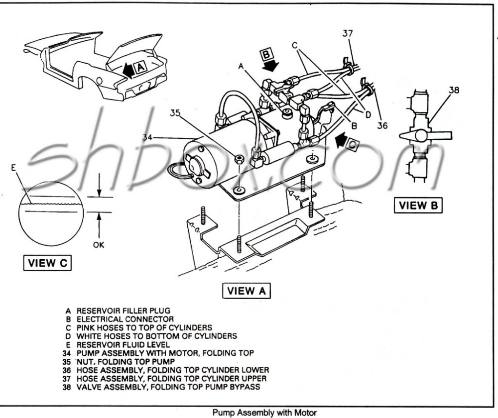 medium resolution of convertible top pump