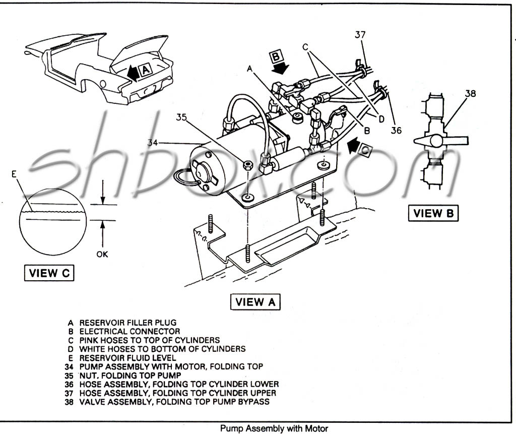 hight resolution of convertible top pump