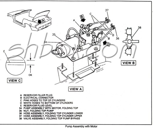 small resolution of convertible top pump