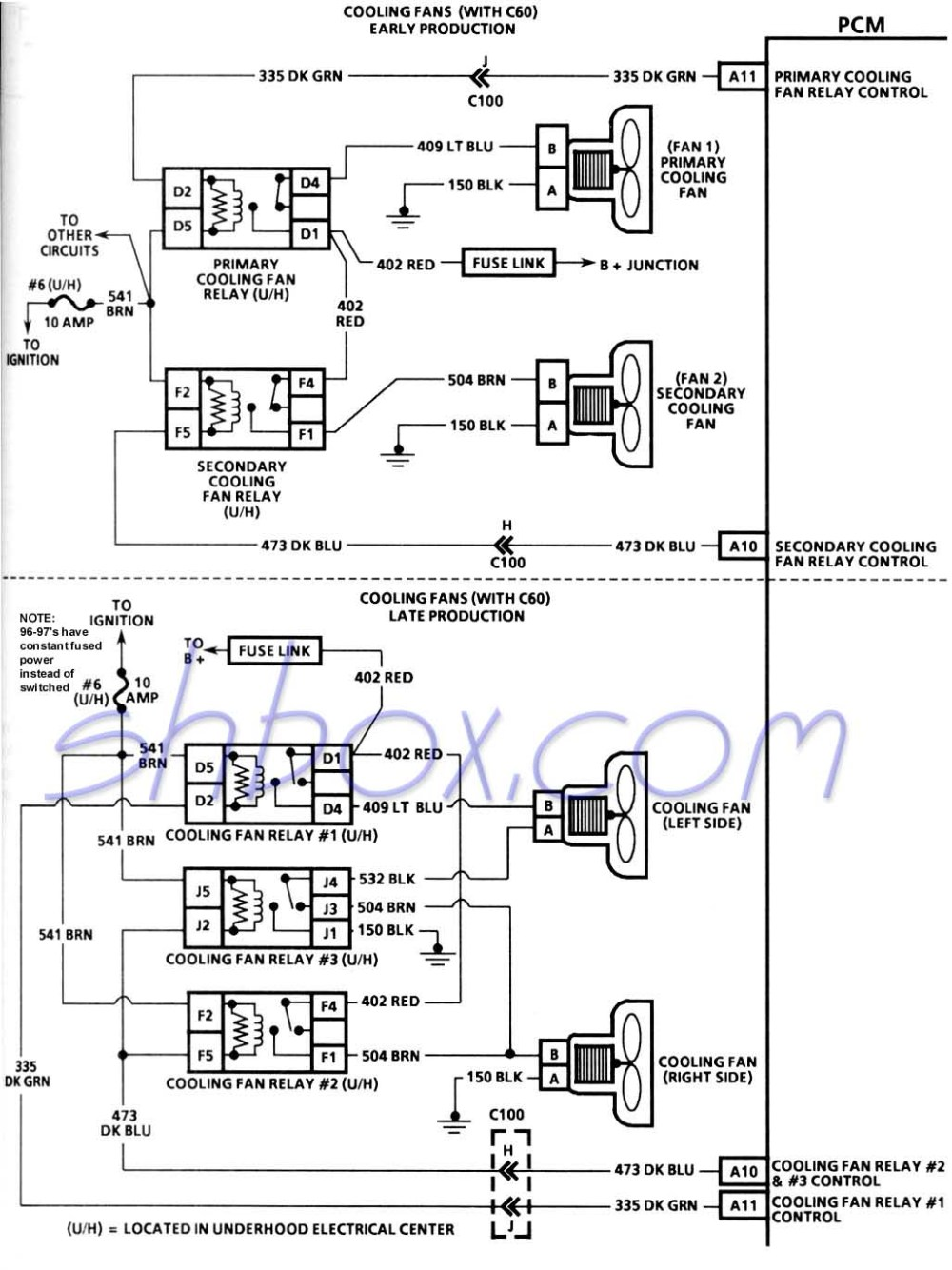 medium resolution of 4th gen lt1 f body tech aids 1991 firebird fuse diagram cooling fans schematic