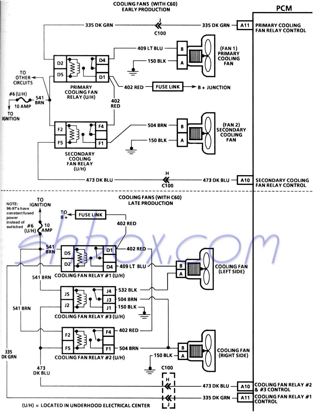 hight resolution of 4th gen lt1 f body tech aids 1991 firebird fuse diagram cooling fans schematic