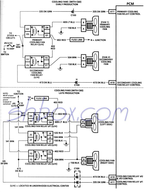 small resolution of 4th gen lt1 f body tech aids 1991 firebird fuse diagram cooling fans schematic