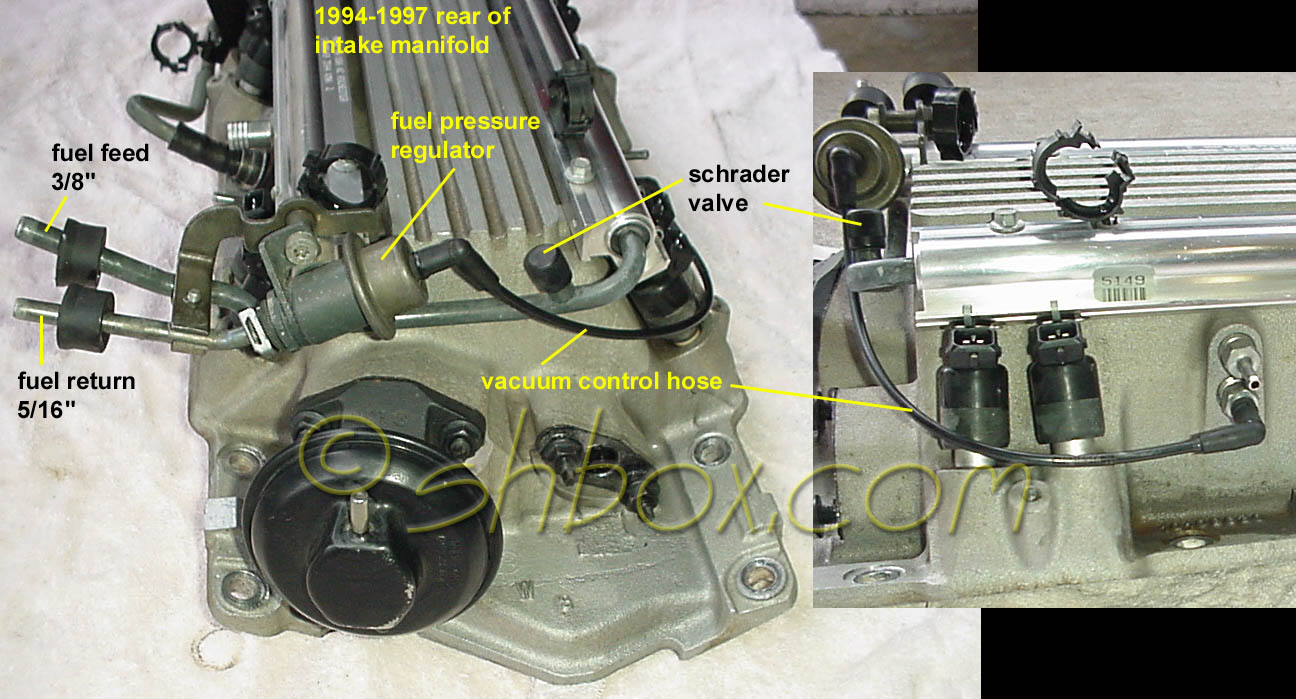hight resolution of fuel pressure regulator and shrader valve