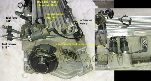 small resolution of fuel pressure regulator and shrader valve