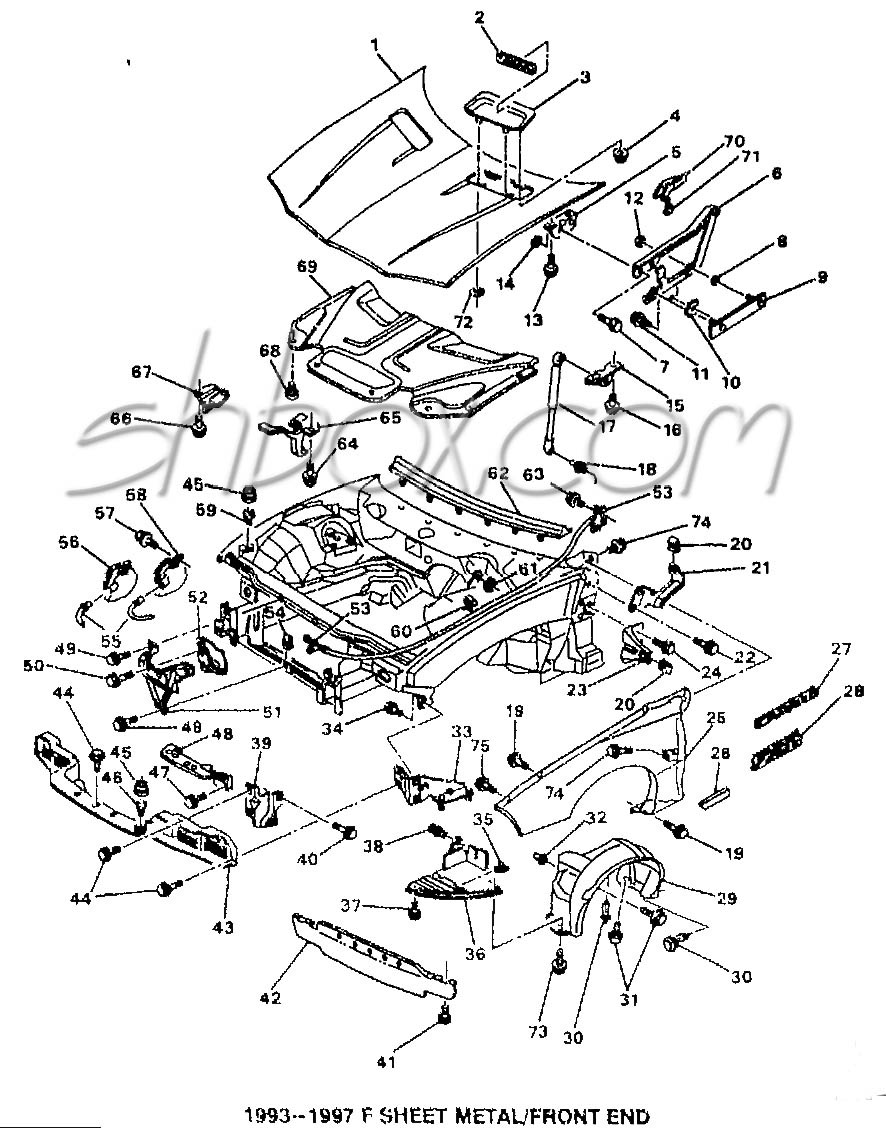 hight resolution of 4th gen lt1 f body tech aids drawings exploded views 95 camaro suspension diagram labeled source chrysler rear