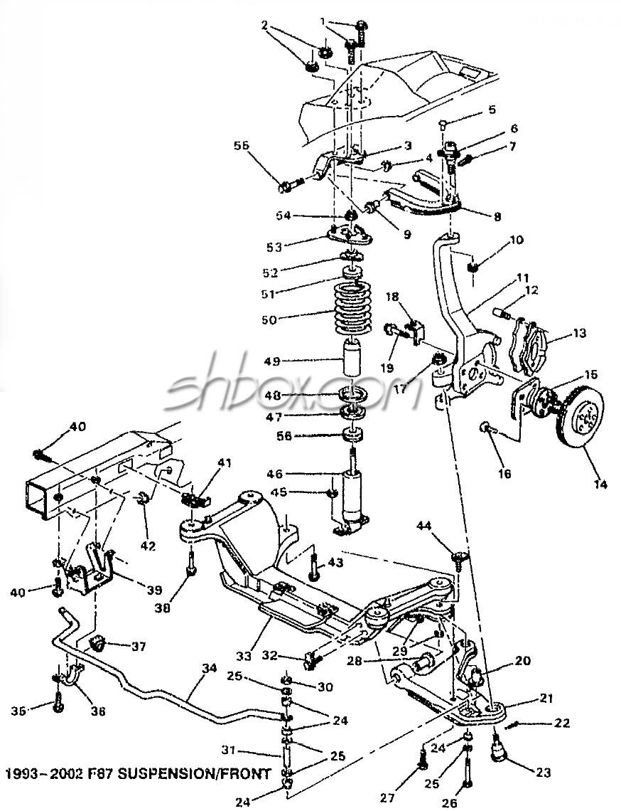 medium resolution of 4th gen lt1 f body tech aids drawings exploded views 95 camaro suspension diagram labeled