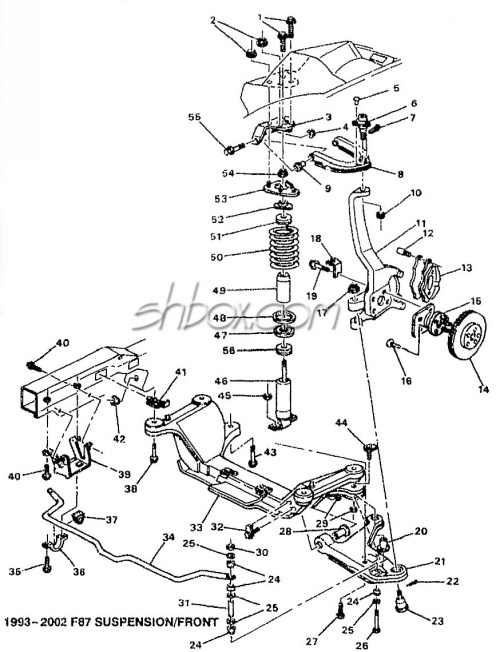 small resolution of 4th gen lt1 f body tech aids drawings exploded views 95 camaro suspension diagram labeled