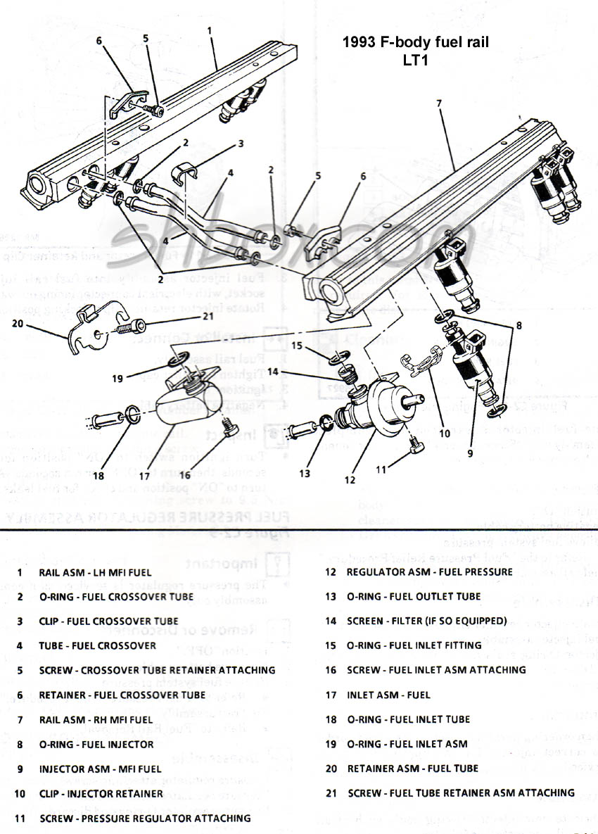 hight resolution of 4th gen lt1 f body tech aids drawings exploded views lt1 heater hose diagram fuel