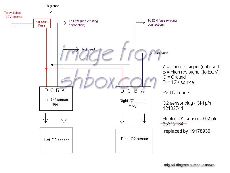 4 wire lambda sensor wiring diagram ezgo 36 volt oxygen ac all data toyota 4th gen lt1 f body