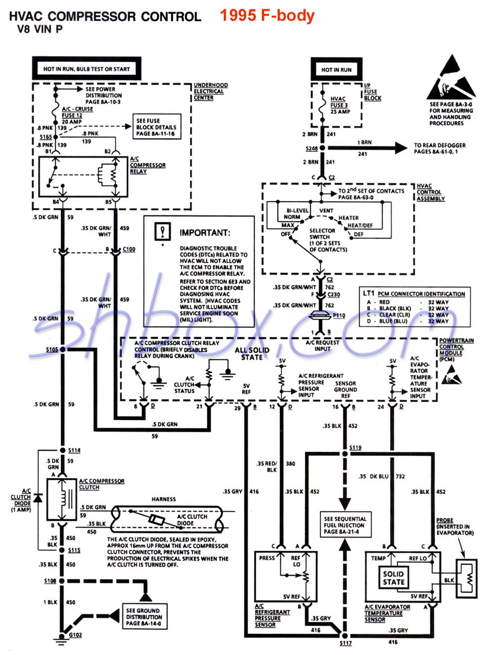 1994 Lt1 Optispark Firing Order Diagram, 1994, Free Engine