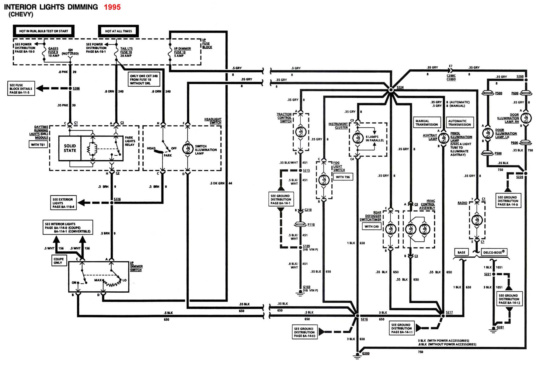 hight resolution of 4th gen lt1 f body tech aidsinterior lights schematic 1995 camaro