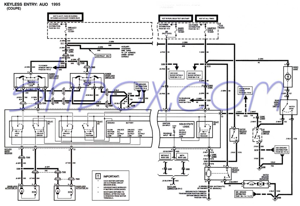 medium resolution of 4th gen lt1 f body tech aids 94 chevy door lock wiring diagram wiring diagram photos for help