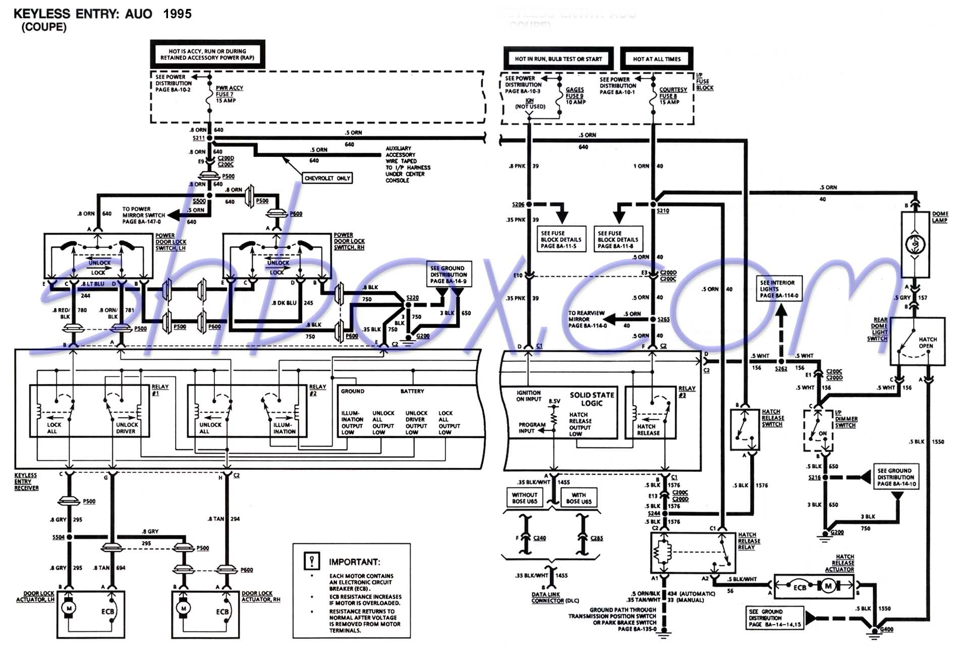 hight resolution of 4th gen lt1 f body tech aids 1997 mustang wiring diagram 1997 f250 wiring diagram door