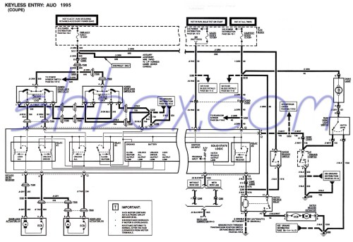 small resolution of keyless entry schematic coupe