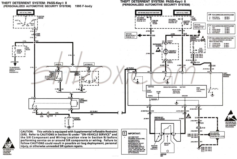medium resolution of 4th gen lt1 f body tech aids a diagram for chevy silverado ignition wires 94 camaro ignition wire diagram