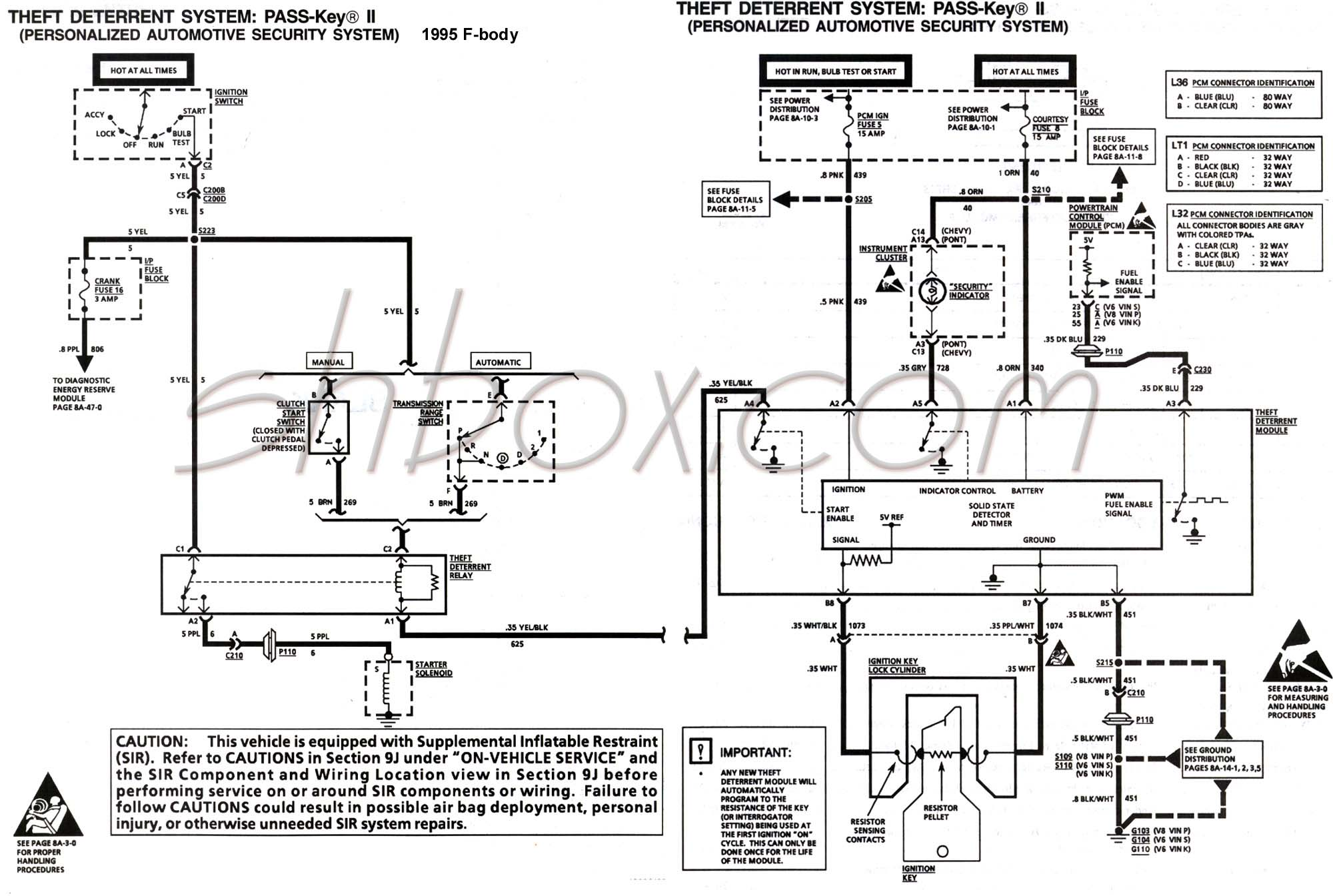 hight resolution of 4th gen lt1 f body tech aids a diagram for chevy silverado ignition wires 94 camaro ignition wire diagram