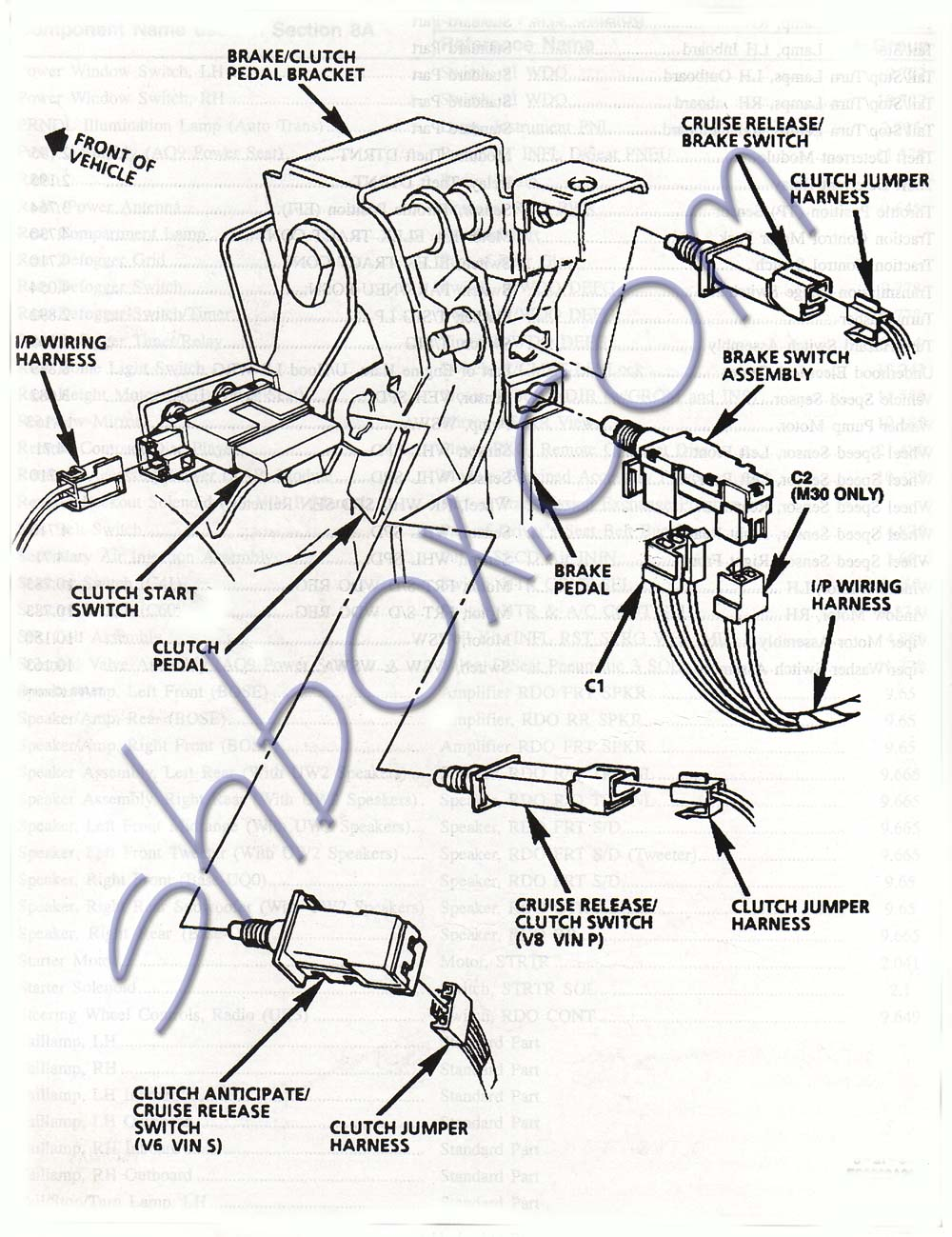 Shbox 1 pedal assy 1