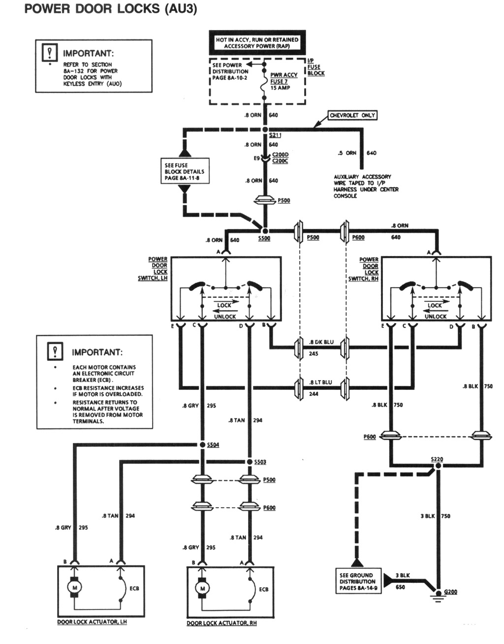 Power door lock schematic