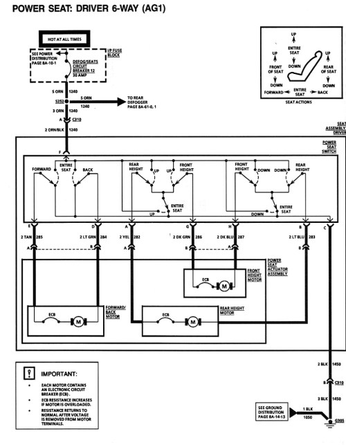 small resolution of power seat schematic camaro