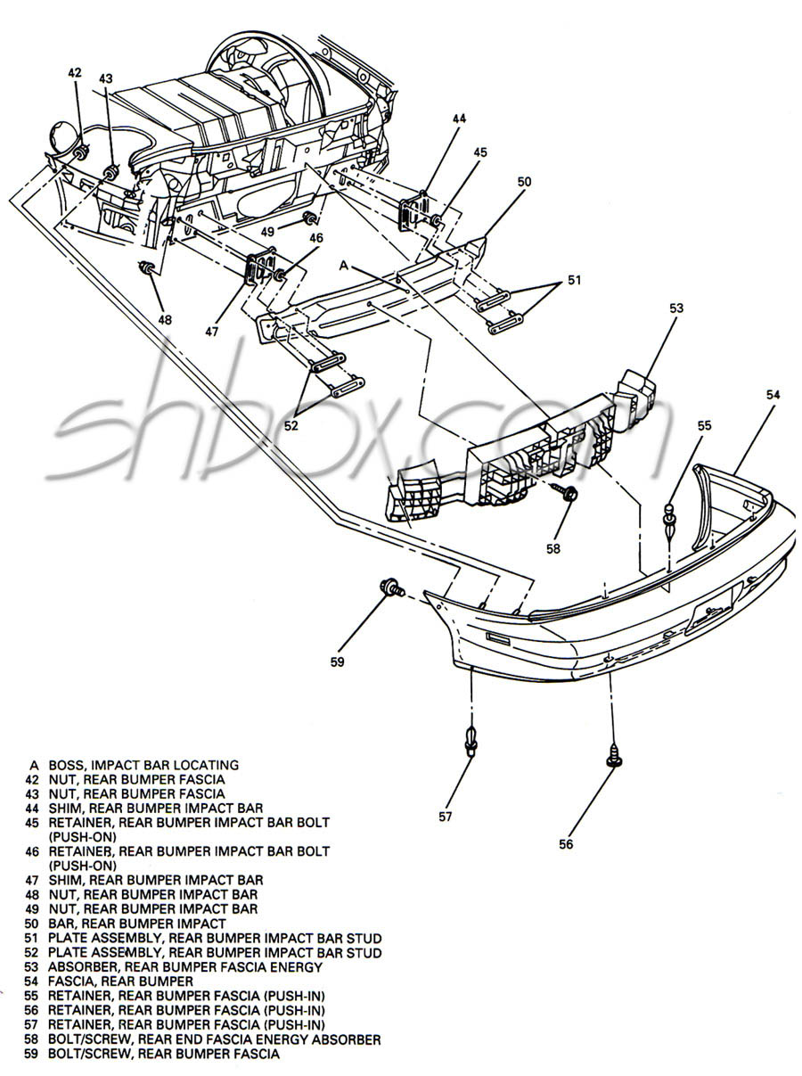 Z28 rear bumper exploded view