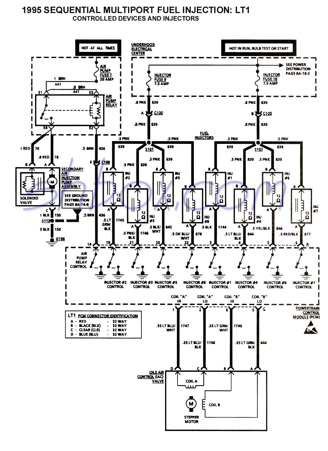 hight resolution of smfi controlled devices and injectors schematic 1993 ecm pinouts