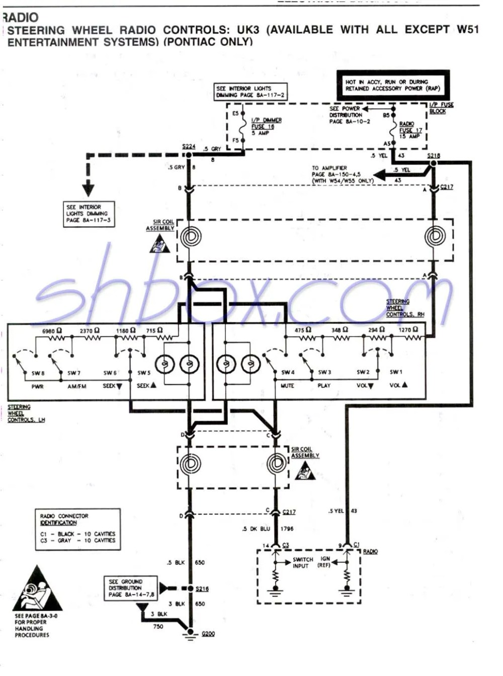 medium resolution of steering wheel radio controls schematic firebird lt1 tach wiring