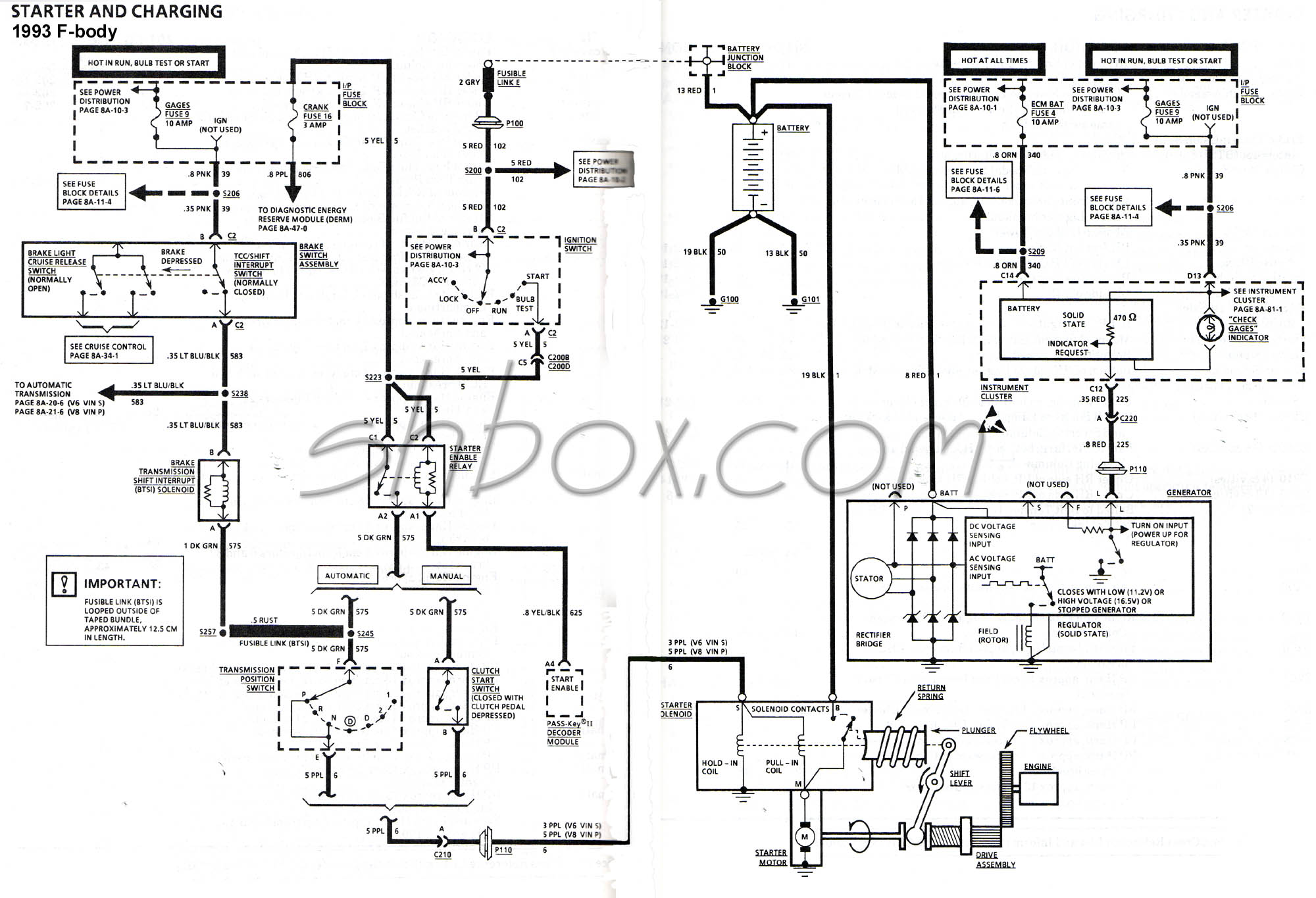 hight resolution of starter and charging schematic 1993