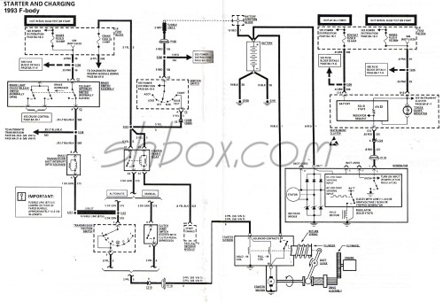 small resolution of starter and charging schematic 1993