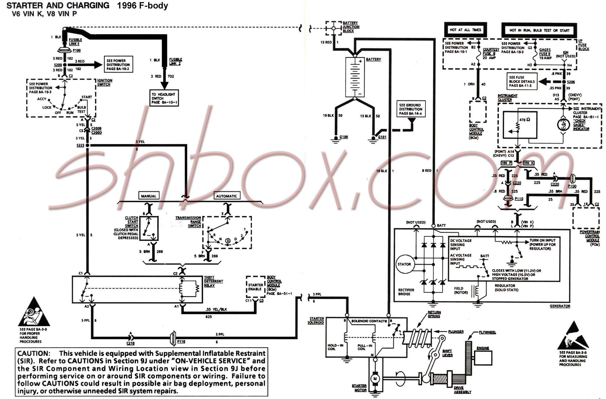 hight resolution of starter and charging schematic 1996