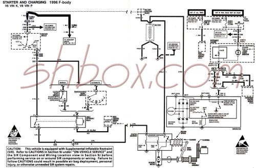 small resolution of starter and charging schematic 1996