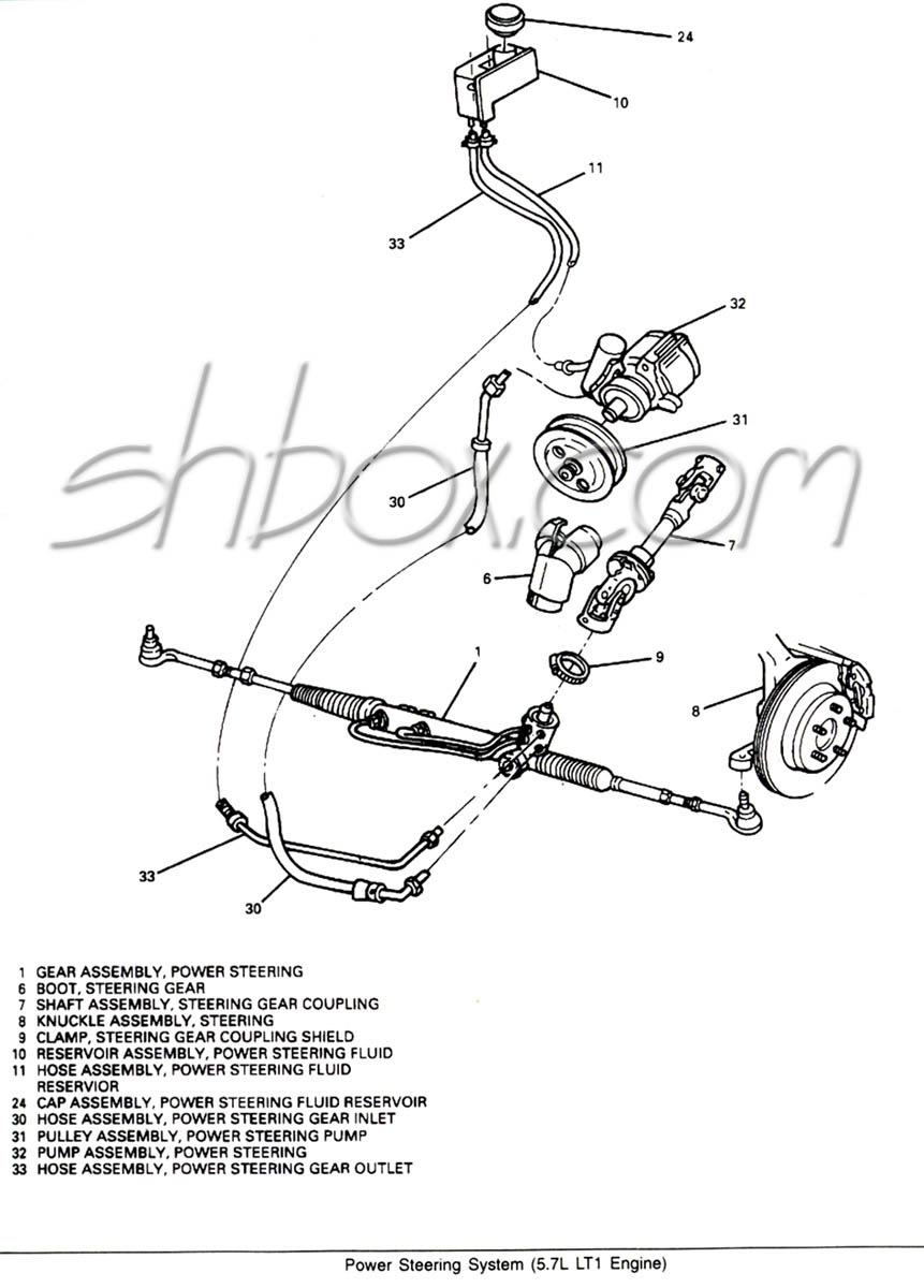 hight resolution of power steering system component view