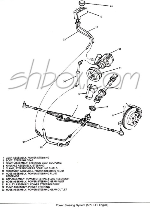 small resolution of power steering system component view