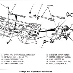 Wiper Motor Wiring Diagram Ford 2007 Kia Spectra Radio 4th Gen Lt1 F Body Tech Aids Drawings Exploded Views And Linkage View