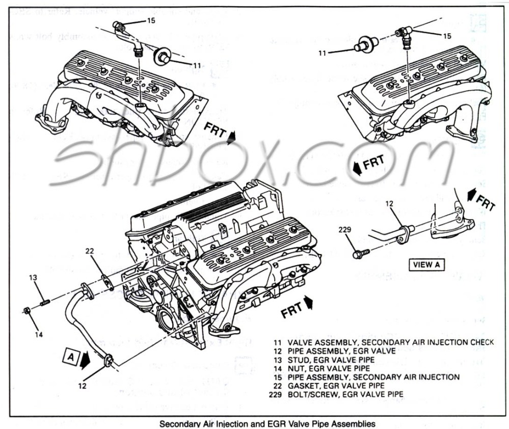 medium resolution of 4th gen lt1 f body tech aids drawings exploded views 96 camaro engine diagram