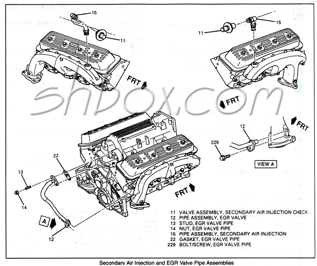hight resolution of 4th gen lt1 f body tech aids drawings exploded views 96 camaro engine diagram