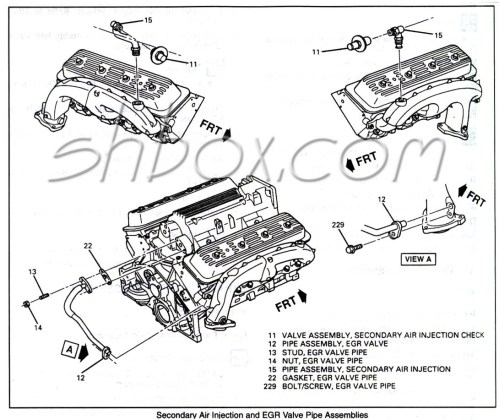 small resolution of 4th gen lt1 f body tech aids drawings exploded views 96 camaro engine diagram