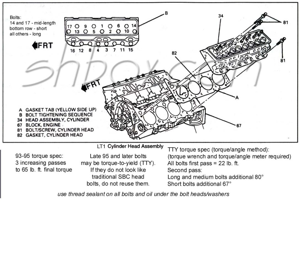medium resolution of cylinder head mounting exploded view