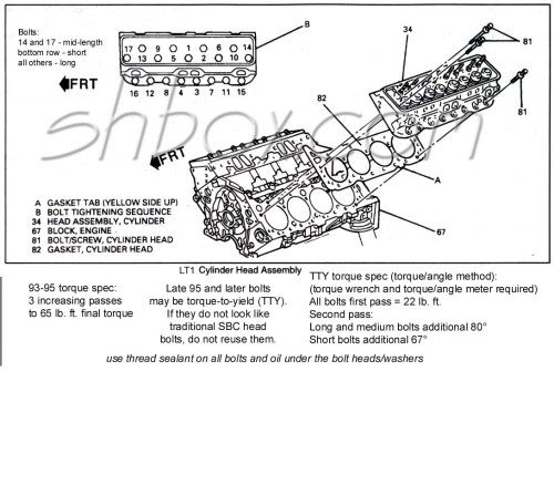 small resolution of cylinder head mounting exploded view