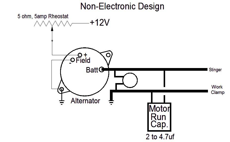 wiring diagram alternator for homemade welder