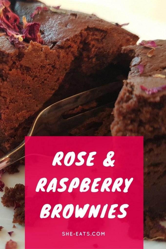 Raspberry rose brownies / SHE-EATS